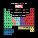 Marvel Periodic Table - Marvel Official T-shirt