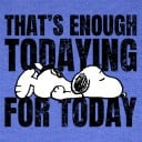 Enough Todaying - Peanuts Official T-shirt
