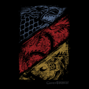 Crossed Sigils  - Game Of Thrones Official T-shirt