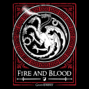 House Targaryen Emblem (Glow In The Dark) - Game Of Thrones Official T-shirt