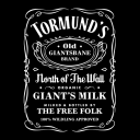 Tormund's Giant's Milk - Game Of Thrones Official T-shirt