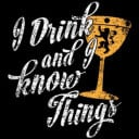 I Drink And I Know Things: Black  - Game Of Thrones Official T-shirt