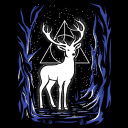 Harry's Patronus (Glow In The Dark) - Harry Potter Official T-shirt