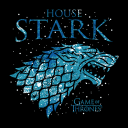 House Stark Ice - Game Of Thrones Official T-shirt