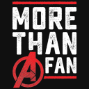 More Than A Fan - Marvel Official T-shirt