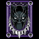 Black Panther: Mask (Glow In The Dark) - Marvel Official T-shirt