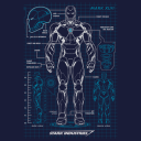 Iron Man Blueprint - Marvel Official T-shirt