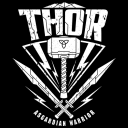 Asgardian Warrior (Glow In The Dark) - Marvel Official T-shirt