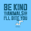 Be Kind To Animals  - Peanuts Official T-shirt