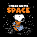 I Need Some Space - Peanuts Official T-shirt