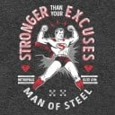 Stronger Than Your Excuses - Superman Official T-shirt