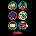 Avengers Lineup: Chibi - Marvel Official T-shirt