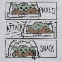 Protect, Attack, Snack - Star Wars Official Hoodie
