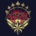 Captain Marvel: Emblem - Marvel Official T-shirt