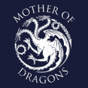 Mother Of Dragons: Navy Blue - Game Of Thrones Official T-shirt Dress