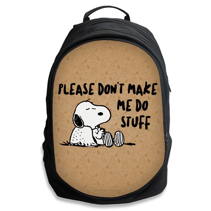 Don't Make Me Do Stuff - Peanuts Official Backpack