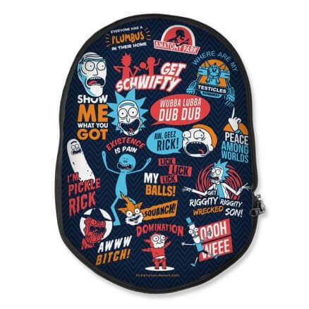 Infographic - Rick And Morty Official Backpack