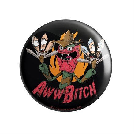 Scary Terry: Aww Bitch - Rick And Morty Official Badge