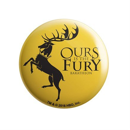 House Baratheon: Ours Is The Fury - Game Of Thrones Official Badge