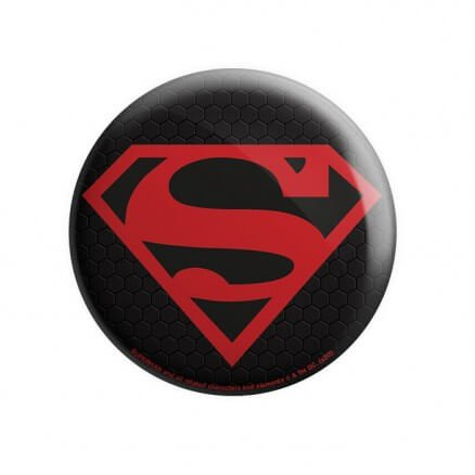 Black Superman Logo - Superman Official Badge