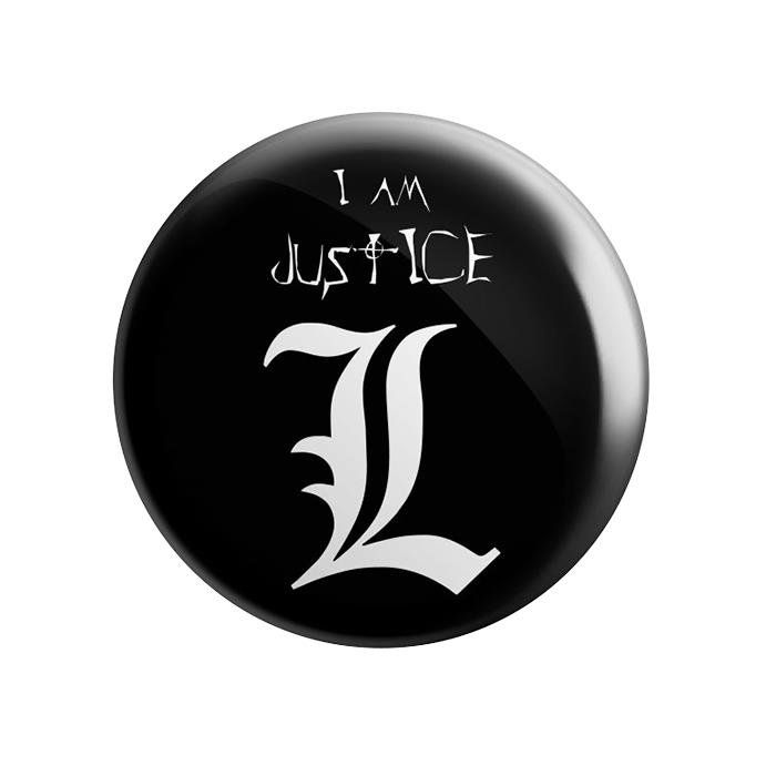 L: I am Justice - Badge