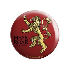 House Lannister: Hear Me Roar - Game Of Thrones Official Badge