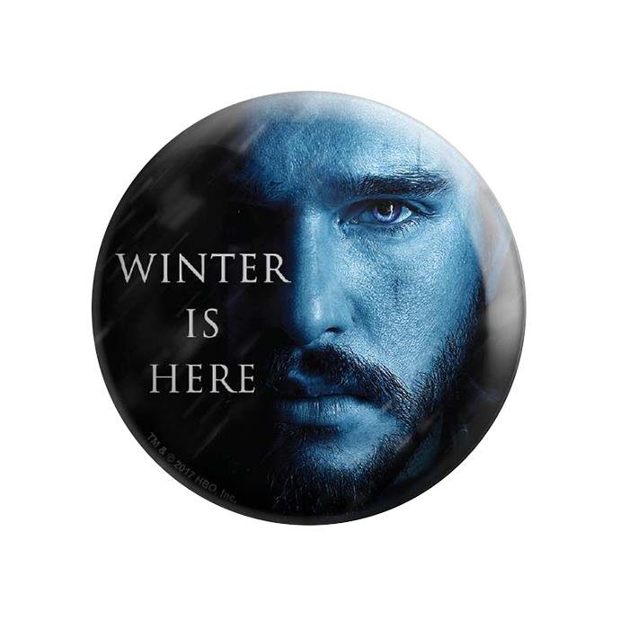 Jon Snow: Winter Is Here - Game Of Thrones Official Badge