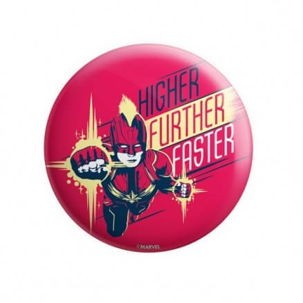 Captain Marvel: Higher Further Faster - Marvel Official Badge