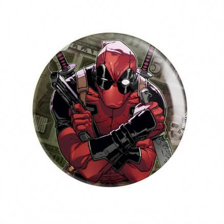 Merc With A Mouth - Marvel Official Badge