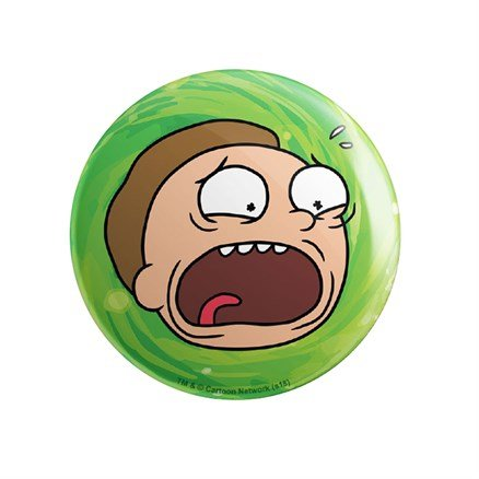 Morty Head - Rick And Morty Official Badge
