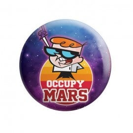 Occupy Mars - Dexter's Laboratory Official Badge
