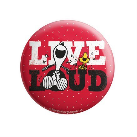 Live Loud - Peanuts Official Badge