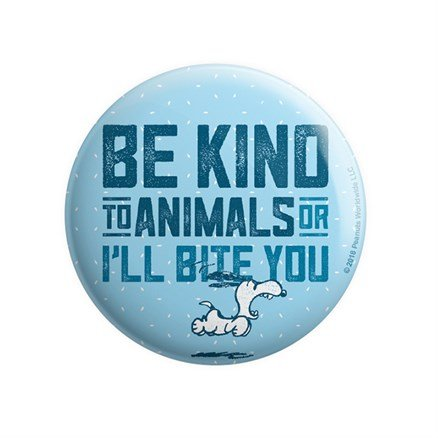 Be Kind To Animals - Peanuts Official Badge