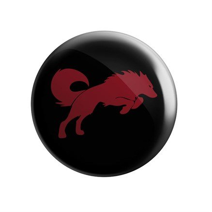 Redwolf Logo (Black) - Badge