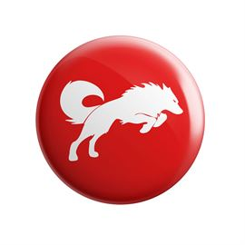 Redwolf Logo (Red) - Badge