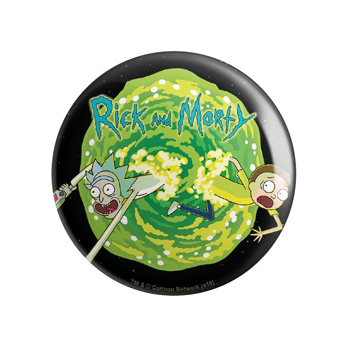 Coming Through - Rick And Morty Official Badge