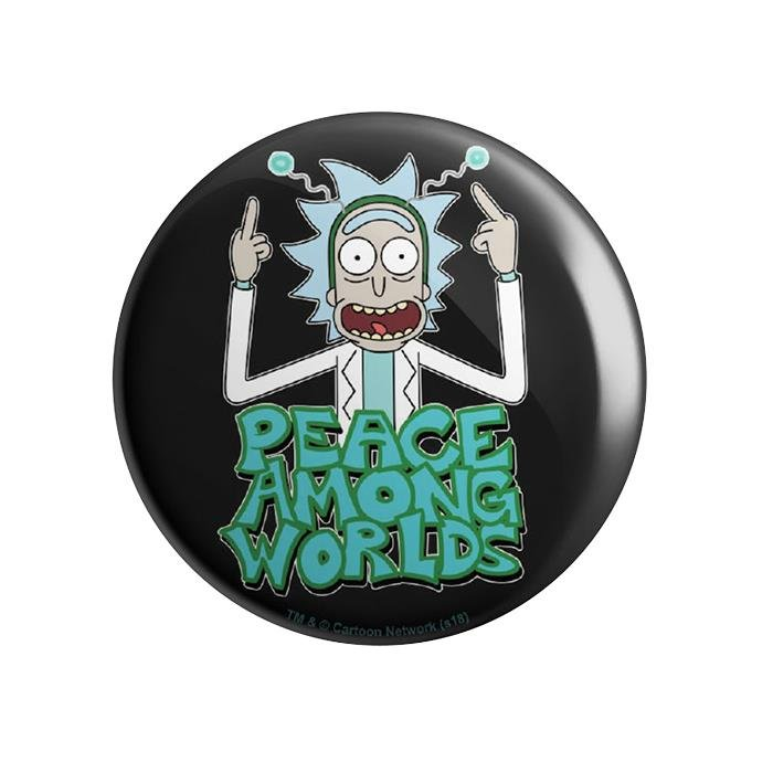 Peace Among Worlds - Rick And Morty Official Badge