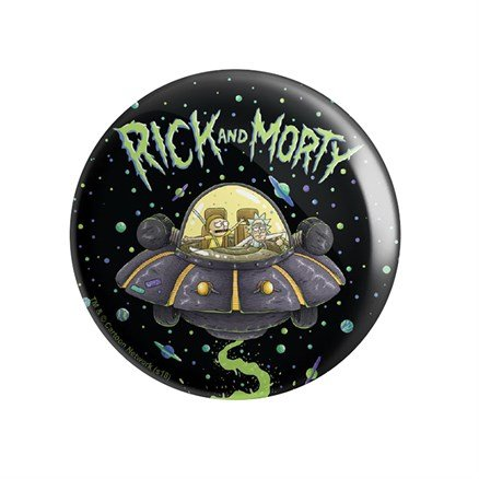 Space Cruiser - Rick And Morty Official Badge