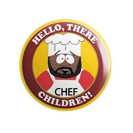 Chef: Hello There, Children - South Park Official Badge