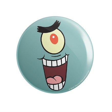 Plankton: Face - SpongeBob SquarePants Official Badge
