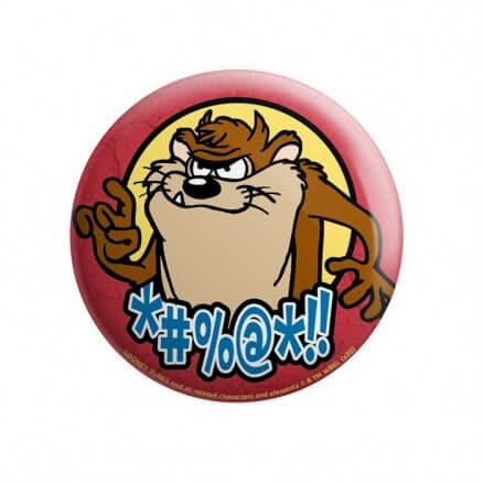 Taz Opinion - Looney Tunes Official Badge