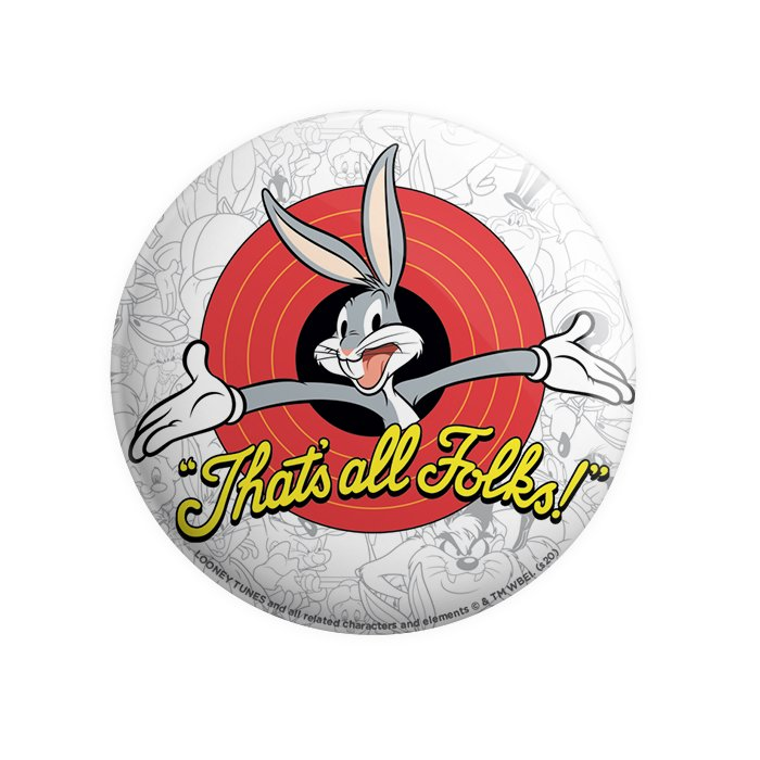 That's All Folks - Looney Tunes Official Badge