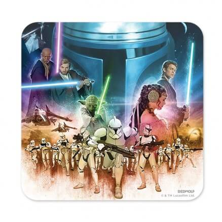 Attack Of The Clones - Star Wars Official Coaster