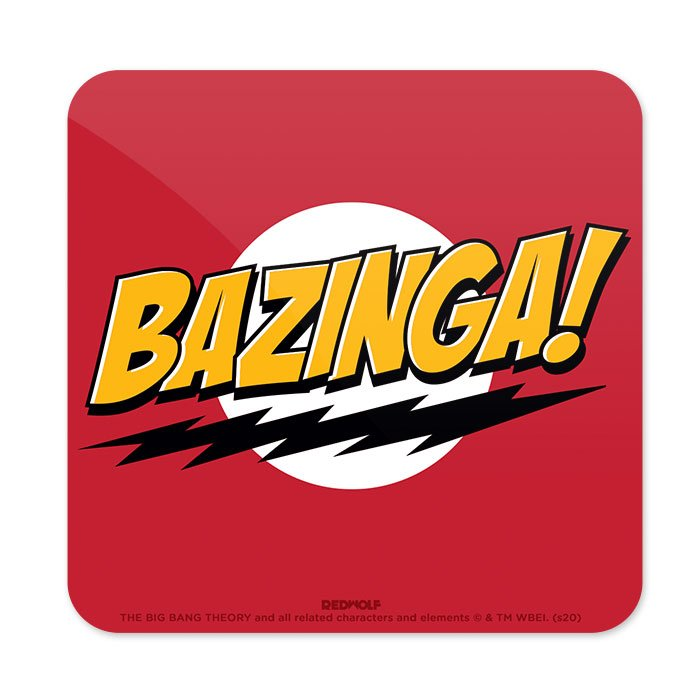 Bazinga! - The Big Bang Theory Official Coaster