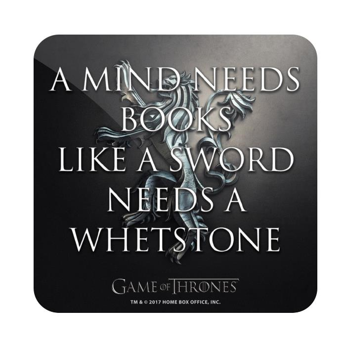 A Mind Needs Books - Game Of Thrones Official Coaster