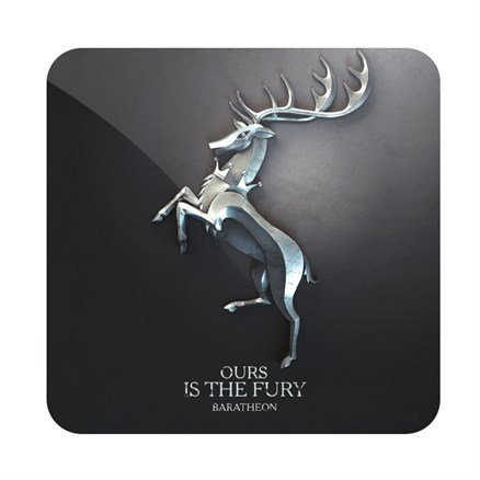 House Baratheon Metallic Sigil - Game Of Thrones Official Coaster