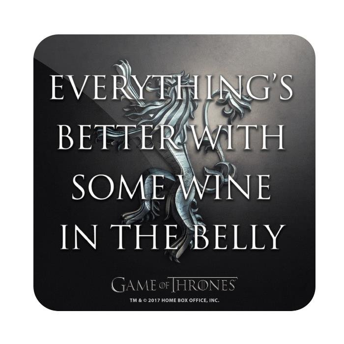 Wine In The Belly - Game Of Thrones Official Coaster