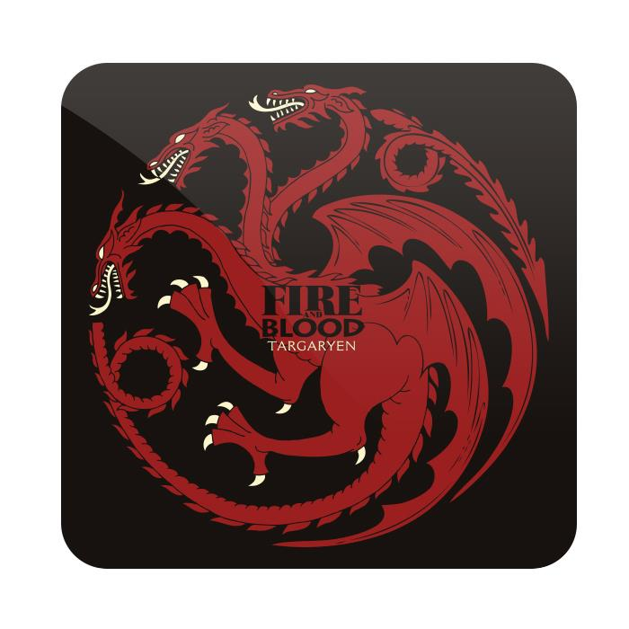 Fire And Blood - Game Of Thrones Official Coaster