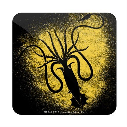 House Greyjoy Sigil Splatter - Game Of Thrones Official Coaster