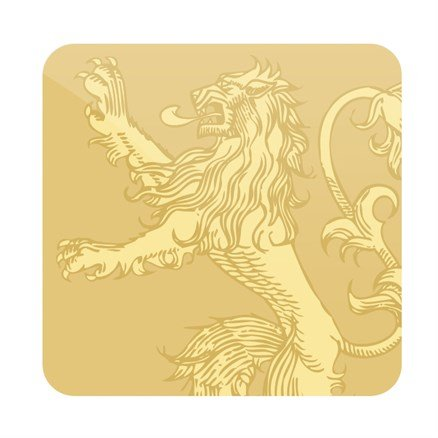 House Lannister Tonal Sigil - Game Of Thrones Official Coaster